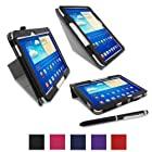 rooCASE Samsung GALAXY Tab 3 10.1 GT-P5210 Origami Folio Case Cover - Black (with Pen Stylus)