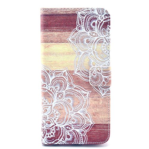 iPhone 5/5S/SE Case, Firefish High Quality PU Leather Case Wallet Flip Kickstand Case [Flap Closure] [Card Slots] Protective Cover for Apple iPhone 5/5S/SE + One Stylus-A-flower (Platinum Iphone 5 Case compare prices)