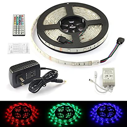 Rxment® Complete kit Waterproof 5 Meter 5050 RGB 150 Led Strips Lighting  Full Kit with 44 Keys IR Remote +Control Box+2A Power Supply for Home  Lighting & Kitchen and Outdoor Decorative - uozlanbc-37Google Sites