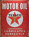 Texaco Motor Oil Lubricates Perfectly Distressed Retro Vintage