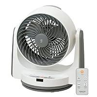 山善(YAMAZEN) 18cm首振りサーキュレーター(静音モード搭載)(リモコン)(風量3段階) タイマー付 ホワイトグレー YAR-VL182(WH)