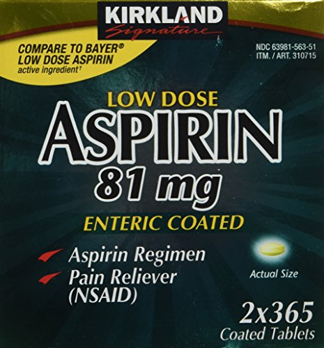 Kirkland Signature Low Dose Aspirin, 2 bottles
