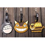 Lovely My Neighbor Totoro Cat Bus PVC Luggage Tag/ Travel Name Tag: A
