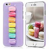 iPhone6S Plus/iPhone6 Plus 5.5インチ ケース スマホケース Lanveni ハードケース ポリカーボネート 3D 立体的 防塵 キズ防ぎ 保護 マカロン 可愛い 面白い 紫