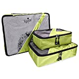 Travel Packing Cubes - 3 pc Set - Packing Organizers for Accessories
