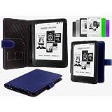 """NAVITECH - Housse à rabat en cuir bycast bleu pour Kobo Mini 5""""pouces E-reader"""