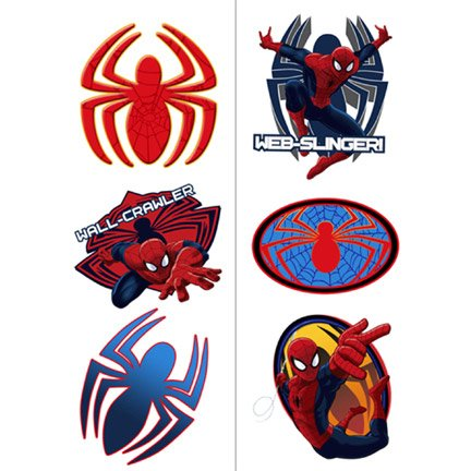 Spiderman Hero Dream Party Tattoos-2 sheets - 1