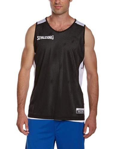 Spalding-Maglietta essenziale, reversibile nero Nero - nero/bianco M