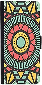 Snoogg AZTEC TARGET VISION Graphic Snap On Hard Back Leather + PC Flip Cover One Plus One
