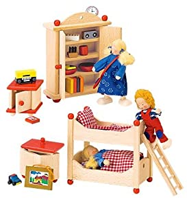 Amazon.com : Beautifully Detailed Wooden Dollhouse Furniture Sets