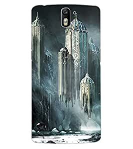 ColourCraft Flying Castle Design Back Case Cover for OnePlus One