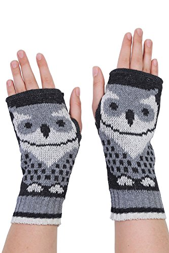 Green 3 Apparel Repeating Owl Made In Usa Hand Warmers (Grey) front-345286