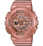 Casio Baby G Pink Gold Metallic Resin Ladies Watch BA111-4CR