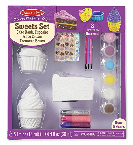 Melissa & Doug Decorate-Your-Own Sweets Set Craft Kit: 2 Treasures Boxes and a Cake Bank (Melissa And Doug Ice Cream Cone compare prices)