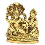 """Redbag - Lord Laxmi Narain Brass Statue - 4126 (4.25""""H X 3.50""""W X 2""""D )"""