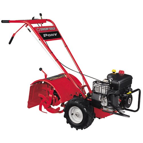 Troy-Bilt Pony Es 12-Inch 250Cc Briggs & Stratton 1150 Series Gas Powered Counter Rotating Rear Tine Tiller With Electric Start