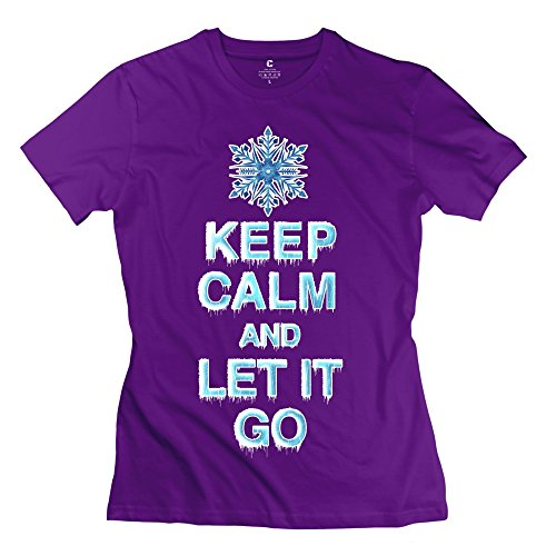 Zhitian Women'S Keep Calm Let It T-Shirt - M Purple
