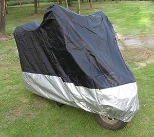 Motorcycle Motorbike Water Resistent Waterproof Rain UV Protective Breathable Cover Outdoor Indoor Black Silver
