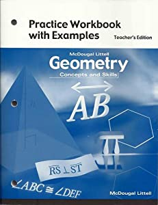 McDougal Littell Concepts & Skills: Practice Workbook with Examples