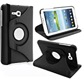 """KANICT® 360° Rotating 7"""" Inch Tablet Leather Front Back Book Flip Case Cover With Stand For Samsung Galaxy Tab..."""