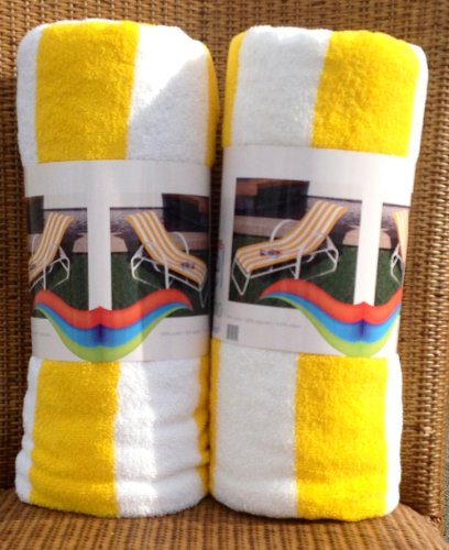 Personalized Chaise Lounge Towels: ** Chaise Lounge Towel Striped Yellow/white. Special Offer