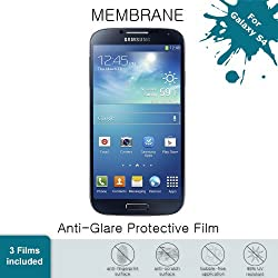 Aduro MEMBRANE Anti-Glare Screen Protector for Samsung Galaxy S4 (3 Front) AT&T, Verizon, T-Mobile, US Cellular & Sprint (Retail Packaging)