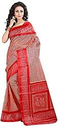 Shree Creation Women's Art Silk Saree with Blouse Piece (Red)