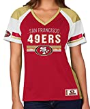 "Majestic NFL Women's San Francisco 49ers ""Draft Me"" Jersey Top Shirt-Large"