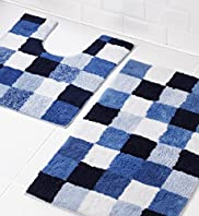 Colour Block Cube Bath & Pedestal Mats