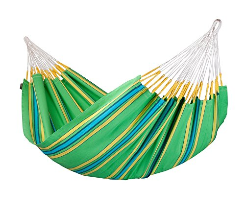 LA SIESTA Currambera Colombian Open Loop Style and Rip Proof Double Hammock, Kiwi