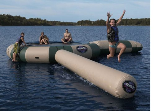 Rave Sports 02252 Bongo 10' Northwoods Water Bouncer w/ Warranty Slide & Log at Amazon.com