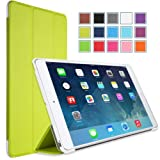MoKo Apple iPad Mini 3, 2 and 1 Case - Ultra Slim Smart shell stand for mini3 (2014 edition with Touch ID), Mini2 ( 2013 model with Retina Display) and Mini (2012 1st gen), GREEN
