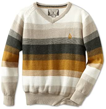 Volcom Big Boys' Standard Stripe Youth Sweater, Gold, Small