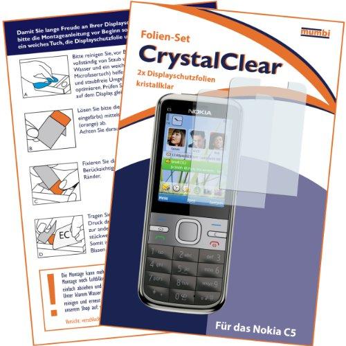 2 x mumbi Displayschutzfolie Nokia C5 C5-00 Displayschutz