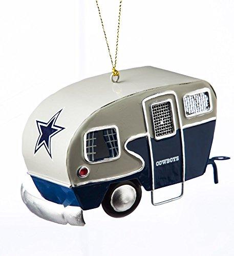Dallas Cowboys Checkerboard Santa Figurine
