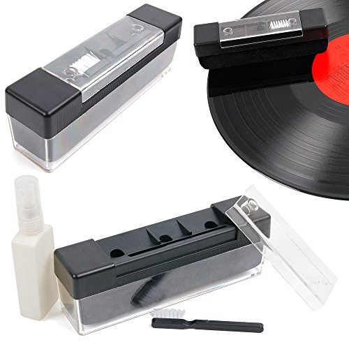 DURAGADGET-Kit-Pack-Pulizia-Professionale-Per-Dischi-Di-Vinile-Include-Spray-Pennello-Di-Velluto-Alta-Qualit