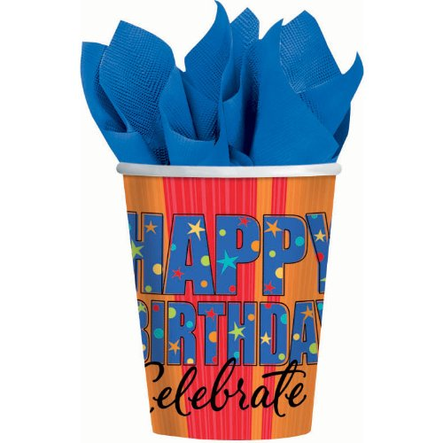 A Year to Celebrate Birthday Party Paper 9 Oz Cups