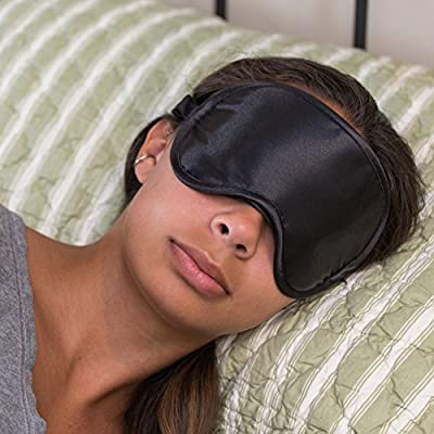 Super Silky Super-Soft Sleep Mask With Free Ear Plugs and Carry Case By 40 Winks. This Premium Quality Eye Mask is Ultra Lightweight & Comfortable - Has An Adjustable Strap to Fit All Head Sizes - Sleep Anywhere Anytime - Ideal for Men, Women and Children