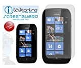 ITALKonline S-Protect (Pack of 3) 3 Layer Technology LCD Screen Guard Protector with Micro Fibre Cleaning Cloth For Nokia Lumia 710