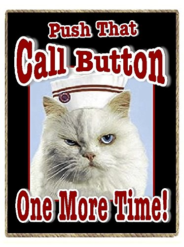Nurse Gifts Funny Refrigerator Magnet with Cat Push That Call Button One More Time (Fridge Magnets Nurse compare prices)