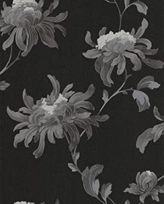 Graham And Brown Luxury Vinyl Fabulous Floral Flower Glitter Wallpaper