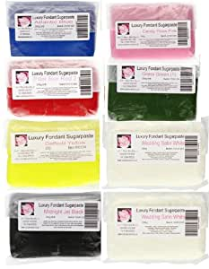 Cupcake World Fondant Sugarpaste Basics Pack 200 g (Pack of 1, Total 8 Sugarpaste)