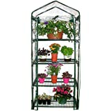"Homewell 4 Tier Mini Greenhouse 27""L x 19""W x 62""H"