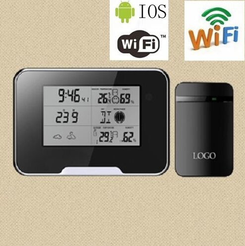 Smart Tech Store Wifi & P2P Spy Camera HD 1080P Weather Station Camera w/ audio for iphone IOS Android Smartphone and PC