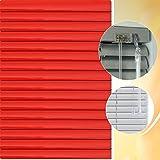 Aluminium Jalousie 195 x 180 cm (Breite x Höhe) – Lamellenfarbe 1307 karminrot // Maßanfertigung Alu Jalousien Jalousette Rollo Plissee