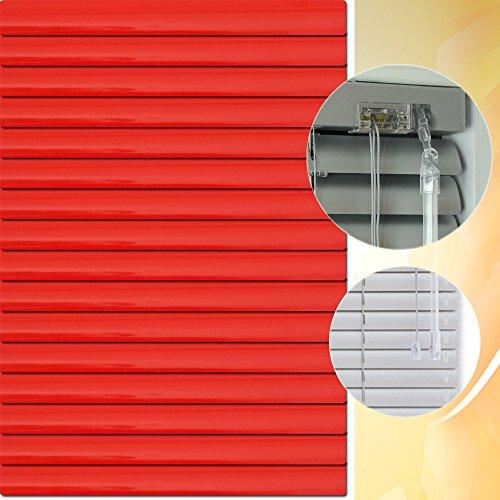 Aluminium Jalousie 175 x 175 cm (Breite x Höhe) – Lamellenfarbe 1307 karminrot // Maßanfertigung Alu Jalousien Jalousette Rollo Plissee