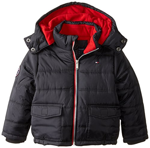 Tommy Hilfiger Baby Richard Puffer Jacket, Black, 24