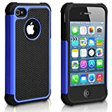 Pasonomi iPhone 4 Case-Premium Heavy Duty Hybrid Shockproof Water Dust Resistant Armor Cover for Apple iPhone 4S/4 (Blue)