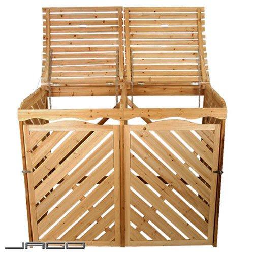 Abri poubelle - Fabriquer cache poubelle bois ...