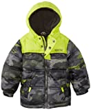 Pacific Trail Little Boys Camo Puffer Jacket with Nordic Fleece Lining